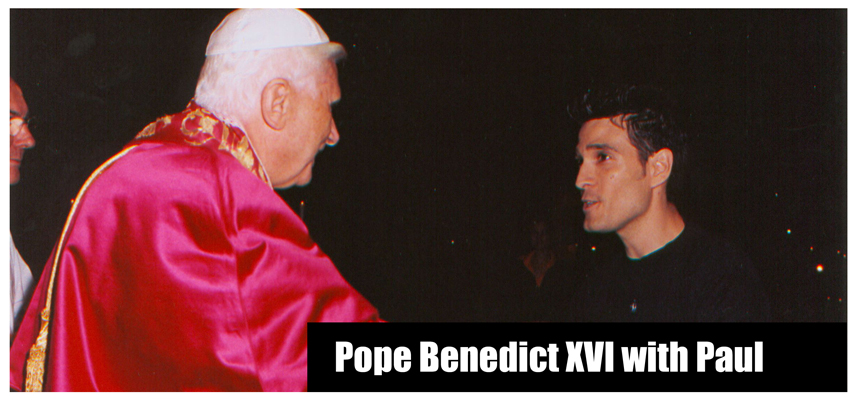 Pope Benedict XVI with Paul Ponce