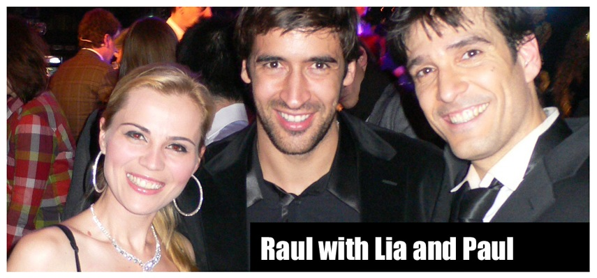 Raul with Lia and Paul Ponce